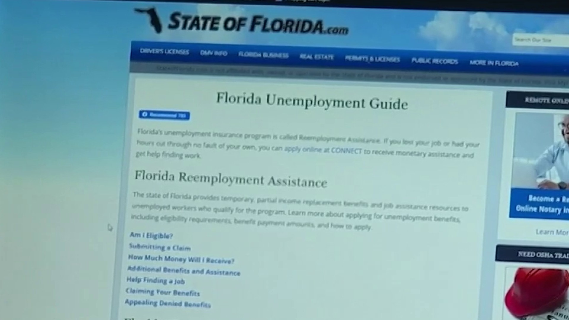 New Order Aims To Speed Up Florida Unemployment Benefits