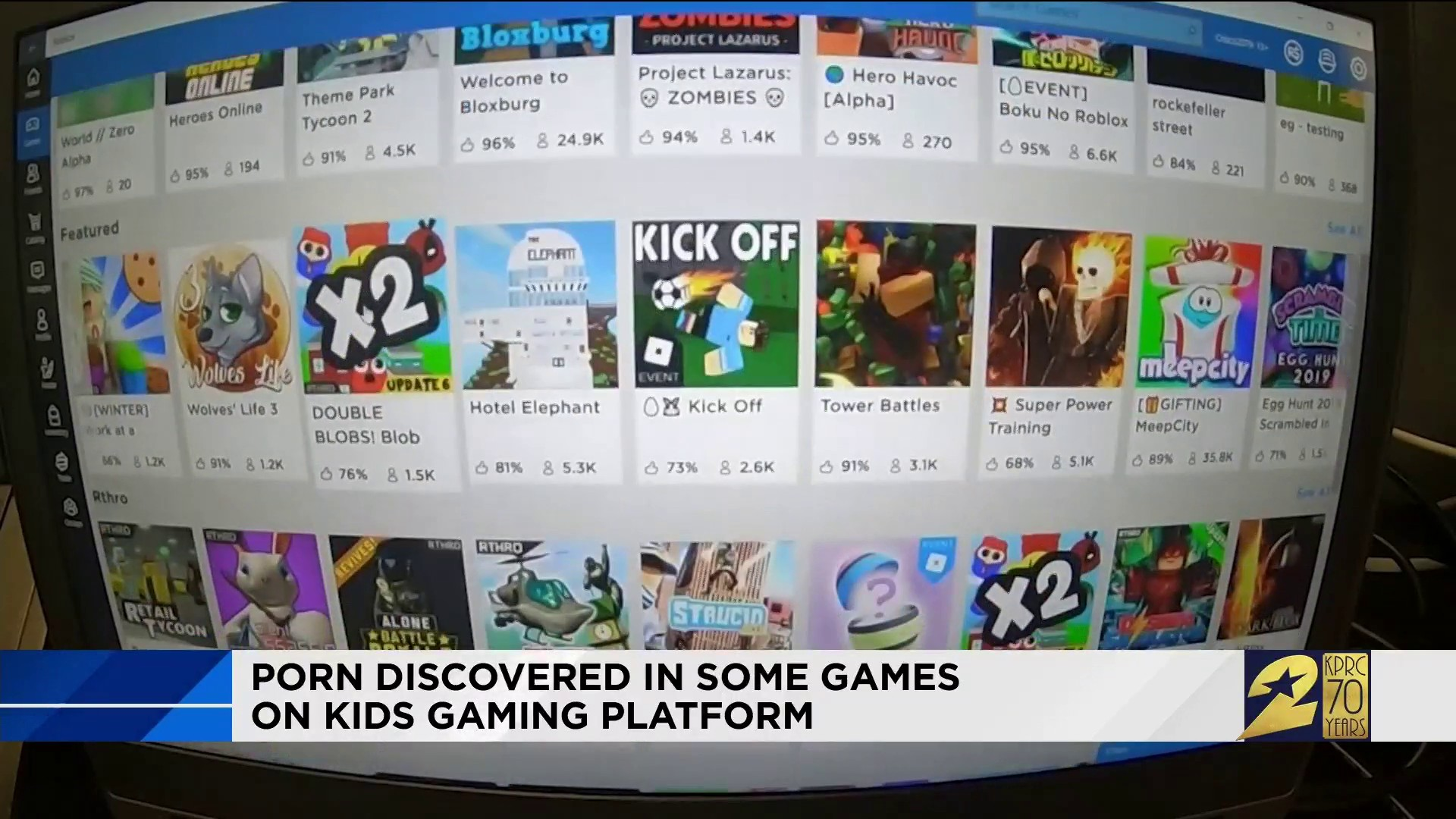 Young Kids Find Pornographic Images On Free Video Game Platform