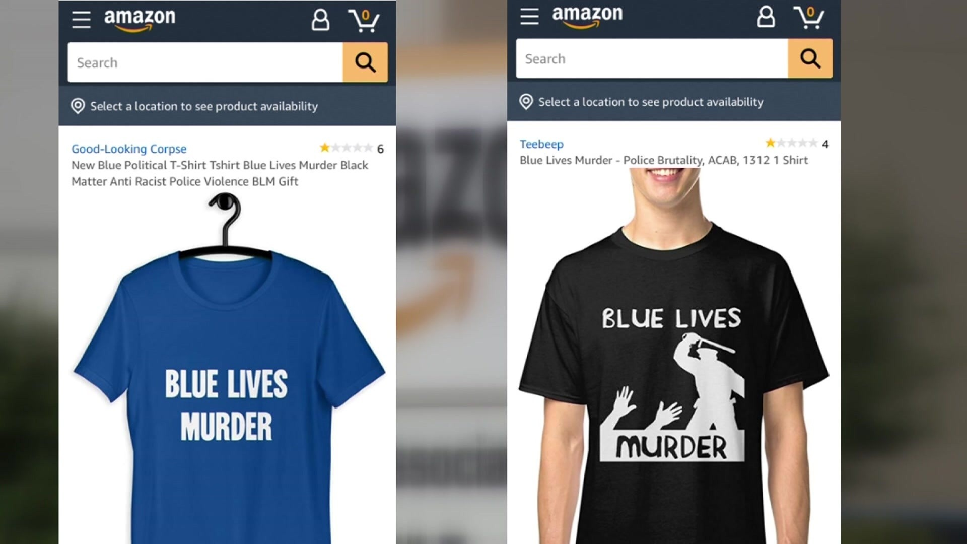 Spring Woman Says Blue Lives Murder Shirts For Sale On Amazon Are Hate Speech Activist Disagrees
