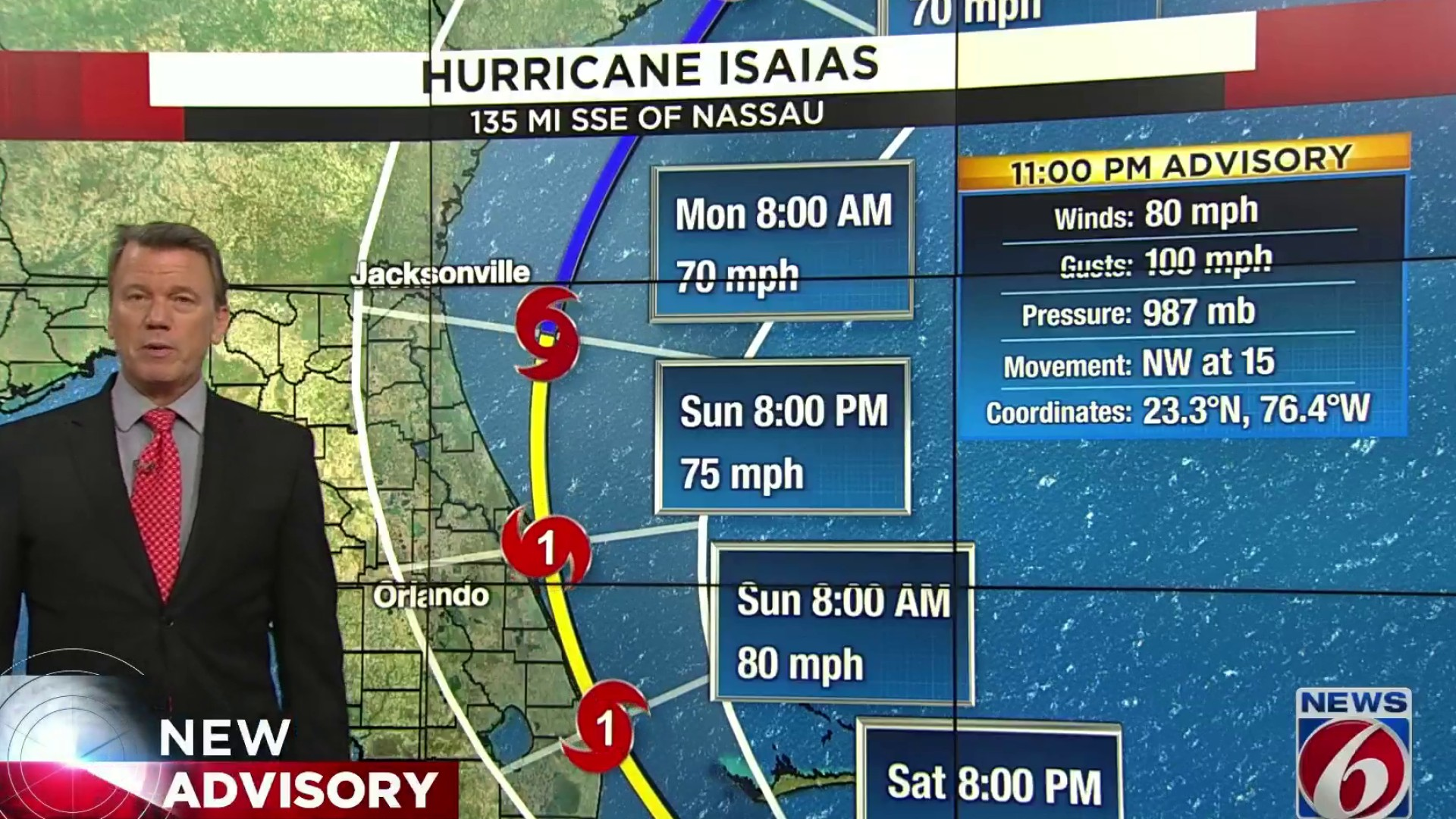 Live Track Forecast Cone Computer Models Updates And More For Hurricane Isaias