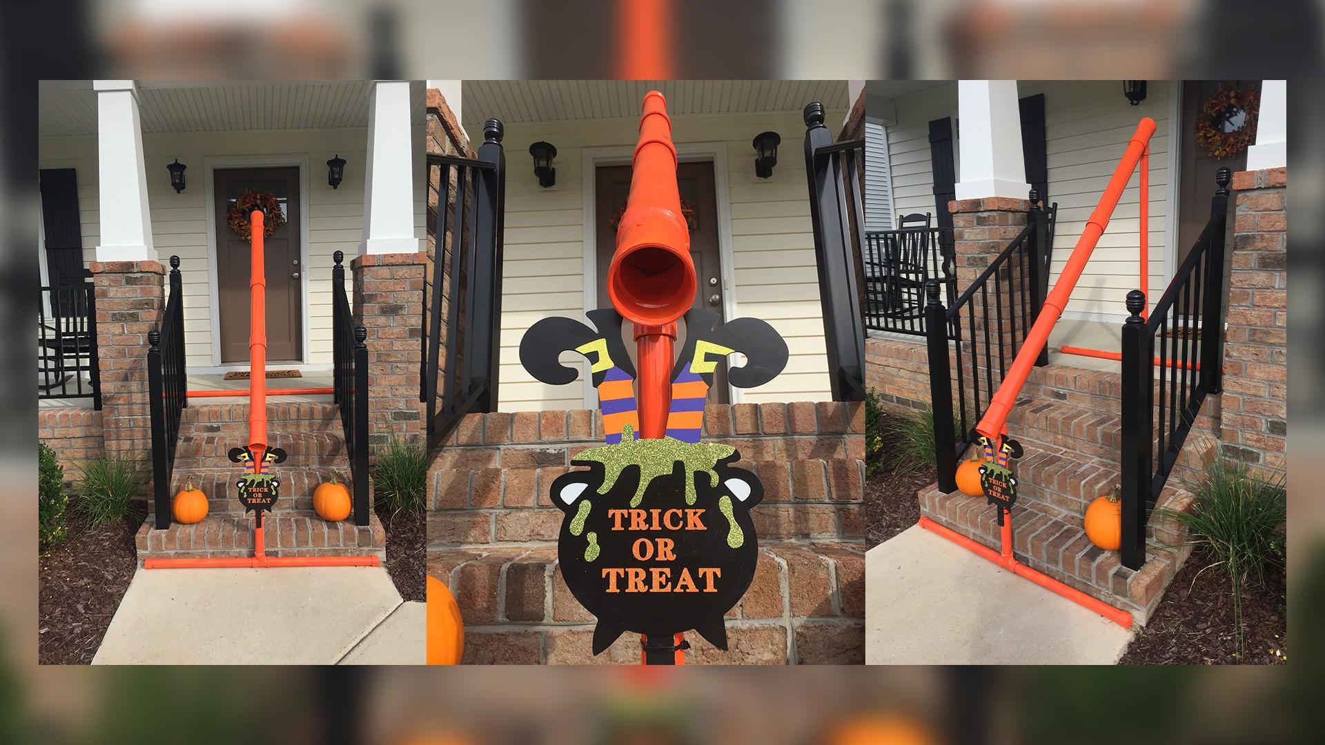 Virginia Tech Halloween 2020 Virginia Tech graduates' Halloween candy slide goes viral